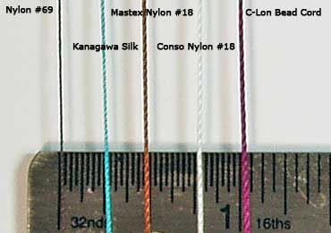 Thread Specifications And Notes Thread Size Chart Bead Weaving Tutorials Beading Tools