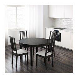 Bjursta Extendable Table Brown Black 45 1 4 65 3 8 Ikea