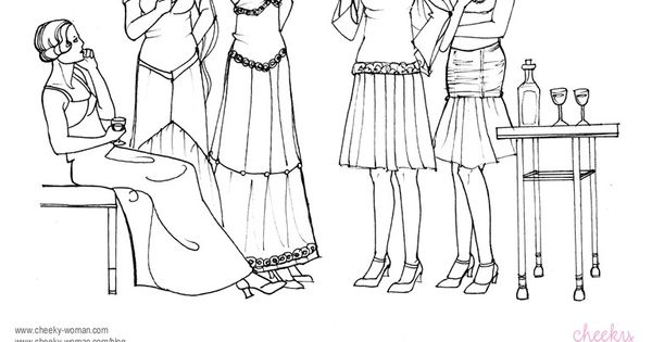 Cheeky Woman: Gatsby Collection coloring page via ...