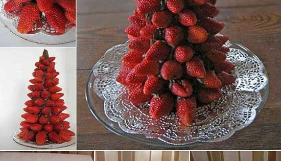 Fruit Christmas trees - Funny how-to guide with pictures for creating beautiful