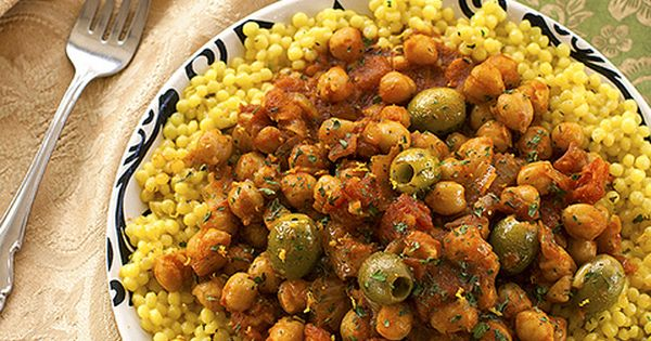 Moroccan-style Olives and Chickpeas. This doesn't look like anything that I ate