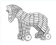 How To Make A Trojan Horse Out Of Popsicle Sticks Trojan Horse