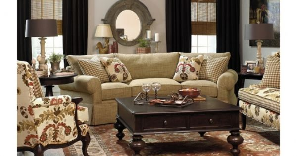 Sofa settee and accent chair paula deen upholstery paula deen home decor ideas pinterest for Paula deen living room furniture