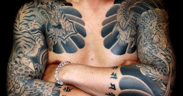 Tatouage chinois un tatouage japonais tigre et dragon tattoo traditionnel japonais - Tatouage tigre japonais ...