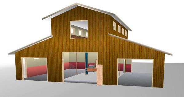 40 x 60 pole barn home designs barn with apartment for Barn kits with apartments