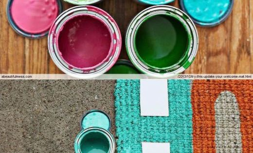 DIY & Crafts | Creative DIY projects: A colorful front door mat...