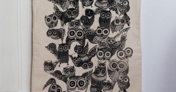Our Workshop | Large Owl Tote Bag Black @Andrea León