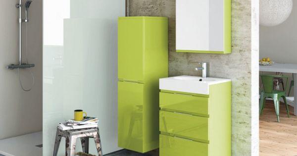 Salle de bains vert anis decotec salle de bains for Salle bain vert anis