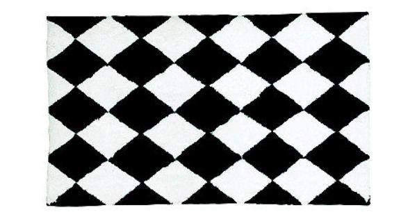 Harlequin bath rug