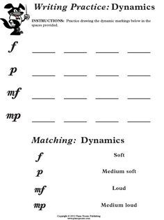 Music Worksheets Musical Terms Dynamics 002 Music Worksheets Music Theory Worksheets Music Education Lessons Music Worksheets