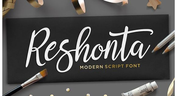 Reshonta Script by TRF Fonts