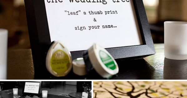 LOVE this as an alternative to the guest book