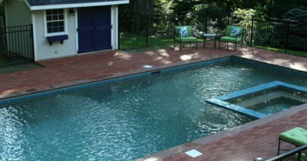 Traditional Home Pool House Pool Patio Yards Landscape Explore Patioandyards Com Pool House Designs Small Pool Design Pool House