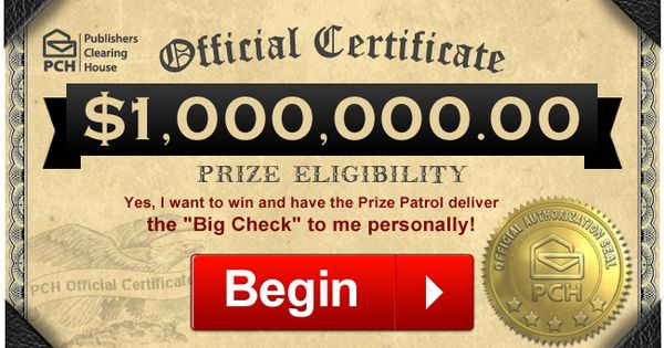 PCH $10 Million Dollar Sweepstakes 2019: Win $10 Million ...