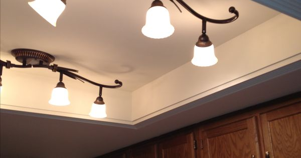 changing kitchen light fixture convert that recessed fluorescent ceiling lighting 5229