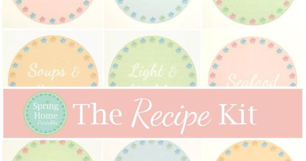 The Recipe Kit 30 Documents Instant Download Home