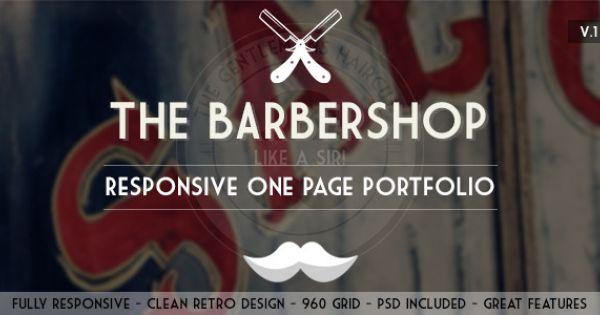 The Barbershop - Responsive Portfolio http://themeforest.net/item ...