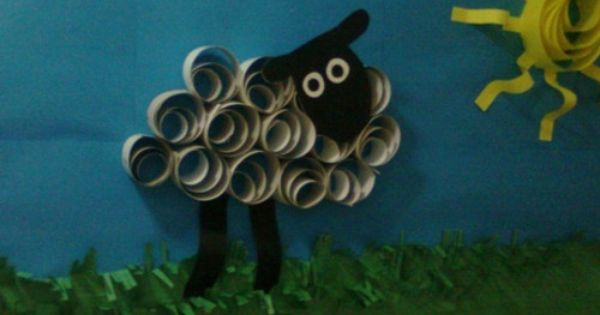 Image detail for -library bulletin board ideas / paper-quilled sheep and sun