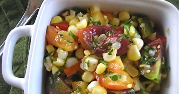 Herbed Sweet Corn and Tomato Salad | Salads | Pinterest | Tomato Salad ...