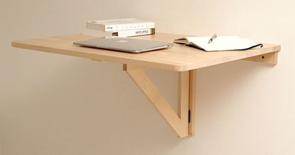 Repurpose A Wall Mounted Folding Table As A Collapsible Standing Desk Diy Standing Desk Fold Down Desk Wall Mounted Folding Table