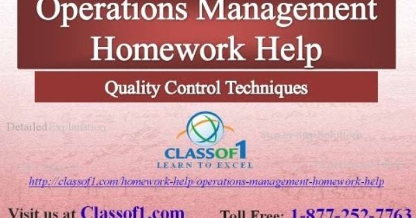 Operations management homework help free