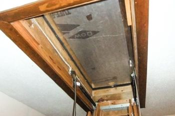 Savings Project Attic Stairs Cover Box Attic Stair Insulation Attic Ladder Insulation Attic Flooring