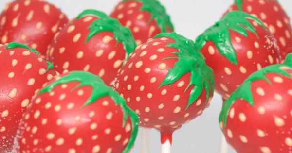 I love strawberries and cake pops they look yummy.