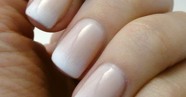 Gradual French manicure - nice and very natural (never understood why they