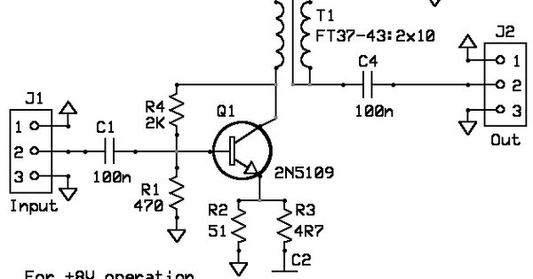 build a universal wideband small signal rf amplifier