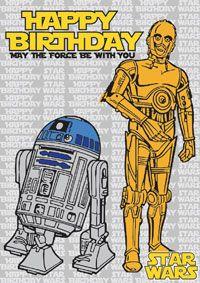 Pin On Star Wars Birthday Cards
