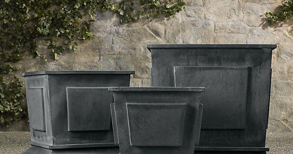 Estate Zinc Paneled Planters Zinc Restoration Hardware