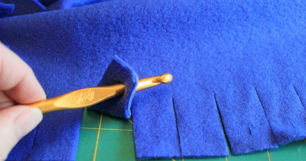 Braided Fleece Edge Blanket Sewing Pinterest Blanket