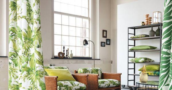 rideaux jungle like chivasso marie claire maison rideaux et voilages pinterest salons. Black Bedroom Furniture Sets. Home Design Ideas