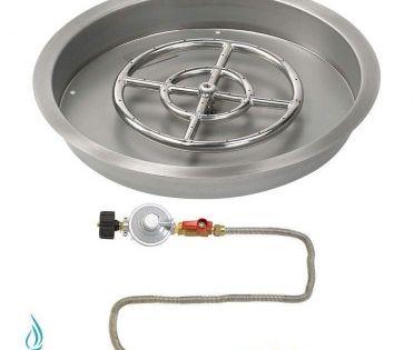 American Fireglass Match Light Fire Pit Kits Round Bowl Pans Fire Pit Kit Wine Barrel Fire Pit Fire Glass