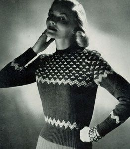Scandinavian Sweater Pattern No 5317 Knitting Patterns Vintage Knitwear Sweater Knitting Patterns Vintage Knitting Patterns