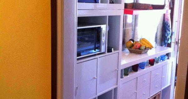 Cocina auxiliar con expedit de ikea c mo crear un frente for Estanteria auxiliar cocina