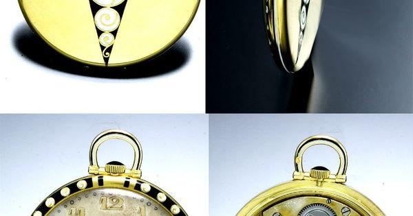 Art Deco Pocket Watch Vintage Things Pinterest
