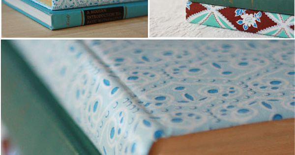 Fabric Covered Book Tutorial. used this tutorial to help me make my