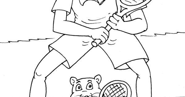 kleurplaat tennis kleurplaten sport spel