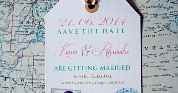 Travel theme wedding save the date available on www.etsy.com/...?