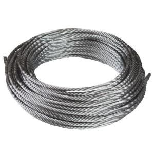 Everbilt 1 8 In X 50 Ft Galvanized Uncoated Steel Wire Rope 803152 The Home Depot Galvanized Metal Wire Metal Storage Sheds