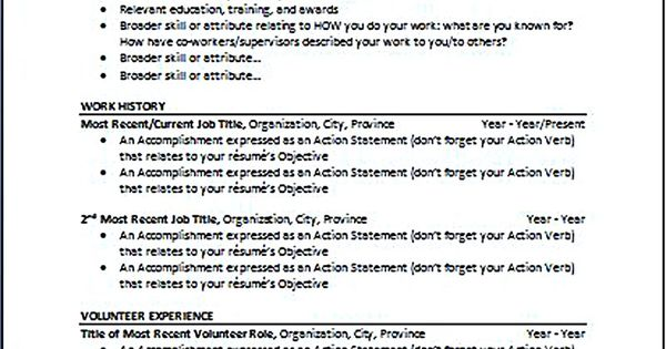 chronological resume is one of the most popular formats