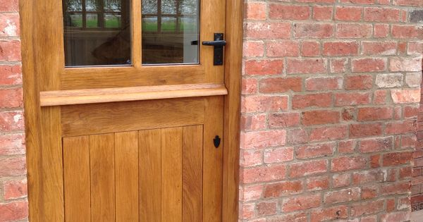 wood wooden stable exterior door