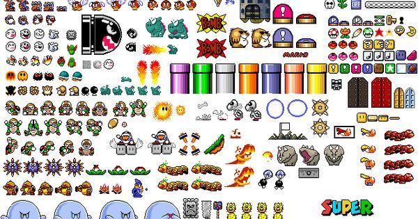 Super Mario World Sprites Friki World Pinterest More