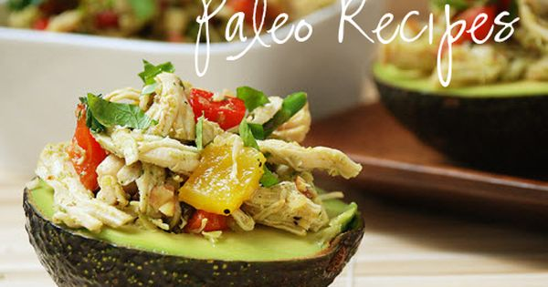 Chicken Stuffed Avocado Cup with Roasted Peppers