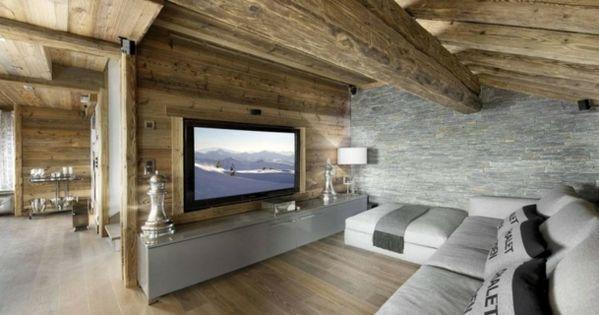 graue Farbe Laminatboden Steinwand Fernseher Dekokissen - wohnzimmer tv steinwand