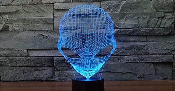 Yanghx 3d Led Nightlight Alien Shapes Of Acrylic Lamps Li Unique Night Lights Bedroom Night Light 3d Led Lamp