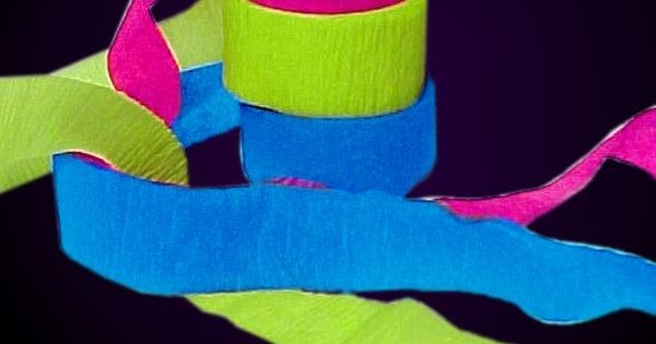 Black Light Reactive Neon Party Streamers Neon Party