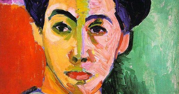 Matisse portret ony z zielon pr g 1905 fowizm for Minimal art historia sztuki