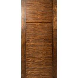 Sulcus Multi Horizontal Plank Wood Door W Vertical Stiles Wood Doors Contemporary Front Doors Exterior Entry Doors